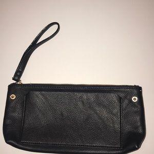 Black Betsey Johnson clutch bag